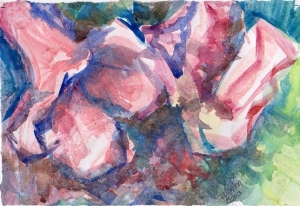 Early Azaleas-watercolor-041013001.