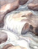 Rose Creek 01 Image 9x12 on 11x14 140 lb coldpress, Watercolor