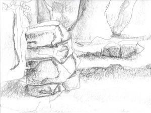 01 skull sketch 11/10/14 12x9, graphite