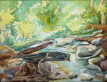 Rose Creek 03 12x9, watercolor on 14x11 140lb coldpress