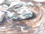 Rose Creek 04 12x9, mixed media (watercolor and graphite)