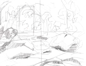 Rose Creek 05 12x9, graphite