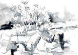 09 Skull Shoals (09 Skull Shoals) (03.paynes grey) 7x5, watercolor