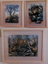 Winter Pecan; noname creek 07; noname creek 10 Mounted and framed