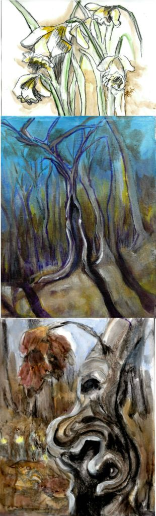 0301-02_2015 studies various, mixed media (charcoal, acrylic, pastel)
