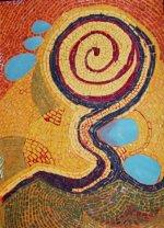 August 2007 cut paper mosaic
