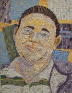 Everybody loves Greg cut paper mosaic