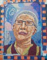 Kelsang Shewang cut paper mosaic