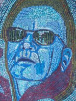 self portrait paper mosaic
