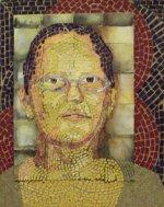Robie cut paper mosaic