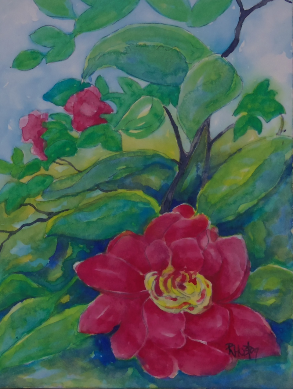 Botanical Garden 25... bright spots in the shade 9x12, watercolor