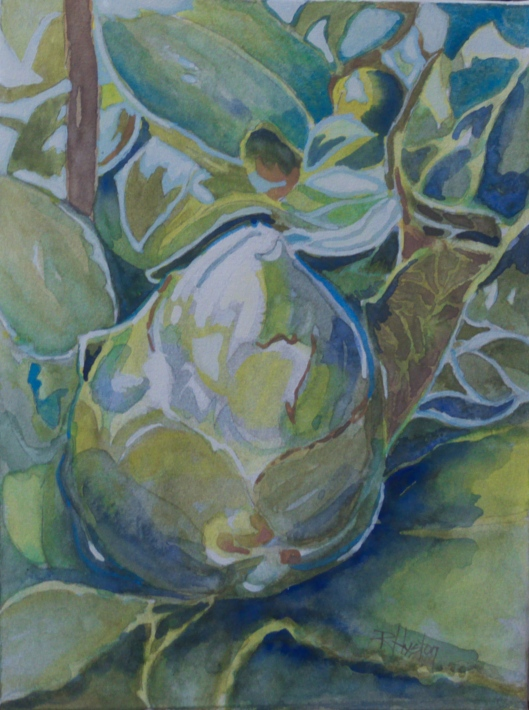 Botanical Garden 30... Camellia's Promise 9x12, mixed media ( watercolor and gouache)